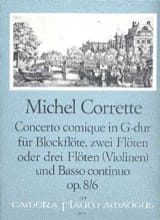 Concerto comique in G-Dur op. 8 n° 6 -Blockflöte 2 Flöten BC laflutedepan.com