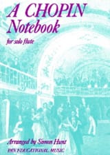 A Chopin Notebook - flute solo CHOPIN Partition laflutedepan.com