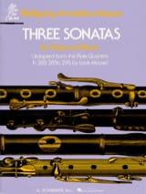 3 Sonates – Flûte piano - Wolfgang Amadeus Mozart - laflutedepan.com