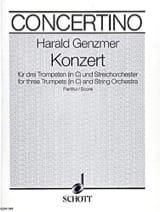 Konzert (in C) - 3 Trompeten und Orchester – Partitur - laflutedepan.com