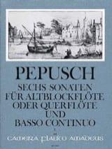 Johann Christoph Pepusch - 6 Sonaten - Bd. 1 – Altblockflöte (Flöte) Bc - Partition - di-arezzo.fr
