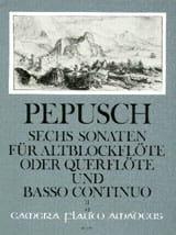 Johann Christoph Pepusch - 6 Sonaten - Bd. 2 – Altblockflöte (Flöte) Bc - Partition - di-arezzo.fr