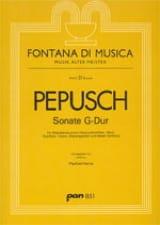 Johann Christoph Pepusch - Sonate G-Dur - Partition - di-arezzo.fr