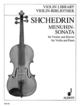 Rodion Shchedrin - Menuhin-Sonata - Sheet Music - di-arezzo.co.uk
