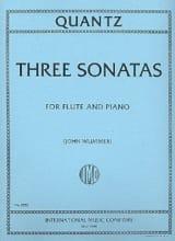 Johann Joachim Quantz - 3 Sonatas – Flute piano - Partition - di-arezzo.fr