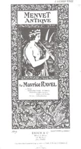 Maurice Ravel - Menuet antique - Violon ou flûte et piano - Partition - di-arezzo.fr