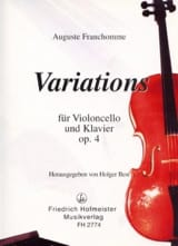 Variations op. 4 en sol majeur Auguste Franchomme laflutedepan.com