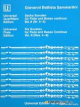 SAMMARTINI - 6 Sonaten - Bd. 2 (Nr. 4-6) - Flöte und Bc - Partition - di-arezzo.fr