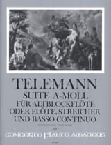 TELEMANN - Suite a-moll - Altblockflöte - Sheet Music - di-arezzo.co.uk
