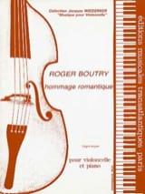 Hommage romantique Roger Boutry Partition Violoncelle - laflutedepan