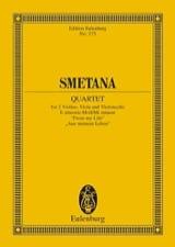 Streich-Quartett E-Moll N° 1 Bedrich Smetana laflutedepan.com