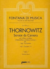 Sonate da Camera 1-3 Volume 1 Henry Thornowitz laflutedepan.com