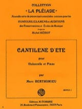 Marc Berthomieu - Cantilene summer - Sheet Music - di-arezzo.co.uk