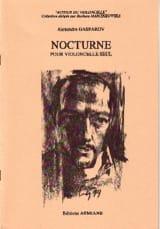 Nocturne Alexandre Gasparov Partition Violoncelle - laflutedepan.com