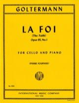 La Foi op. 95 n° 1 Georg Goltermann Partition laflutedepan.com