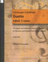 Duetto en Fa Mineur Christoph Schaffrath Partition laflutedepan.com