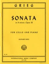 Edvard Grieg - Sonata in A minor, op.36 - Cello - Sheet Music - di-arezzo.co.uk