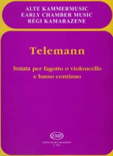 TELEMANN - Sonata for Fagotto o cello e Bc - Sheet Music - di-arezzo.com