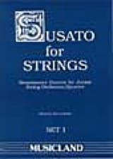 Susato For Strings - Set 1 Partition Quatuors - laflutedepan.com