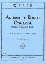 Andante e Rondo ongarese op. 35 Carl Maria Von Weber laflutedepan.com