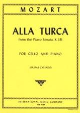 Alla Turca from Piano Sonata KV 331 MOZART Partition laflutedepan.com