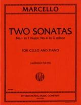 2 Sonates n° 1 et 4 Benedetto Marcello Partition laflutedepan.com