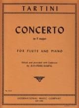 Concerto En Fa M. - Flûte et Piano TARTINI Partition laflutedepan