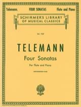 4 Sonatas - Flûte et Piano TELEMANN Partition laflutedepan.com