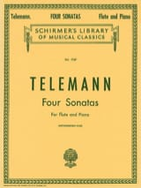 Georg Ph. Telemann - 4 Sonatas - Flûte et Piano - Partition - di-arezzo.fr