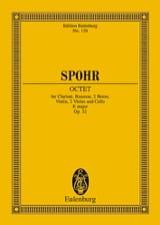 Oktett E-Dur, op. 32 E-Dur Louis Spohr Partition laflutedepan.com