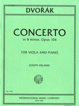 Concerto in B minor, op. 104 Antonin Dvorak Partition laflutedepan.com