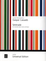 Sérénade Gaspar Cassado Partition Violoncelle - laflutedepan.com