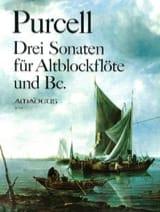 3 Sonaten – Altblockflöte und Bc Daniel Purcell laflutedepan.com