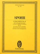 Violin-Konzert Nr. 8 a-Moll Louis Spohr Partition laflutedepan.com