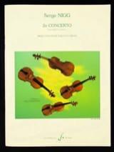 Serge Nigg - Concerto n° 2 pour violon et orchestre - Partition - di-arezzo.fr