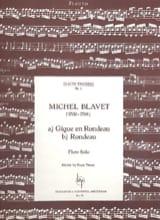 Gigue en Rondeau - Rondeau Michel Blavet Partition laflutedepan.com