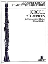 20 Capricen - Klarinette Karl Kroll Partition laflutedepan.com
