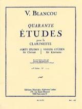 40 Etudes – Volume 1 (n° 1 à 20) V. Blancou Partition laflutedepan.com