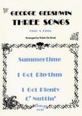 3 Songs - Flute piano George Gershwin Partition laflutedepan.com