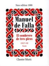 Manuel de Falla - El sombrero de tres picos 1917-19 - Score - Partition - di-arezzo.fr