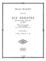 6 Sonates - Volume 2 - 2 Flûtes Michel Blavet laflutedepan.com