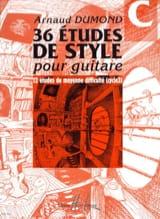 Arnaud Dumond - 36 Etudes de style pour guitare, Volume C - Partition - di-arezzo.fr