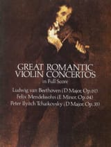 - Great Romantic Violin Concertos - Full Score - Partition - di-arezzo.fr