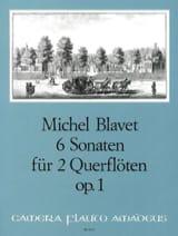 6 Sonaten op. 1 – 2 Flöten Michel Blavet Partition laflutedepan.com
