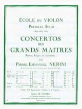 Viotti Giovanni Battista / Nerini Pierre Emmanuel - 1er Solo du Concerto n° 13 Nerini - Partition - di-arezzo.fr