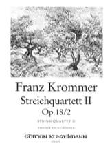 Franz Krommer - Streichquartett op. 18 n° 2 –Stimmen - Partition - di-arezzo.fr