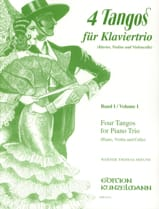 4 Tangos For Piano Trio Volume 1 Werner Thomas-Mifune laflutedepan.com