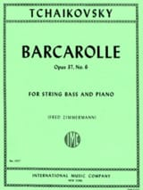 Barcarolle op. 37 n° 6 Piotr Illitch Tchaikovski laflutedepan.com