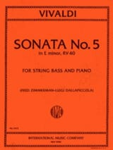 VIVALDI - Sonata No. 5 in E min. RV 40 - Bass String - Sheet Music - di-arezzo.com