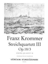 Franz Krommer - Streichquartett op. 18 n°3 –Stimmen - Partition - di-arezzo.fr